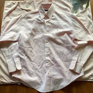 Ralph Lauren Pink and White Oxford Button Down